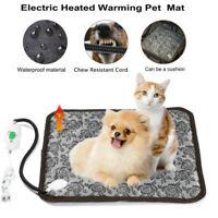 Electric Heated Pet Bed Warm Pad Mat Puppy Dog Cat Waterproof Anti Bite Blanket