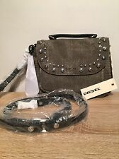 womens Handbag Bag Genuine Diesel Studs Green Stone BNWT RRP £130