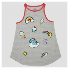 """My Little Pony """"Rainbow Dash"""" Sweets Covered Tank Top - Gray XXL"""