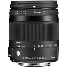 Abrir la caja Sigma 18-200mm F3.5-6.3 DC Macro Lente OS HSM 'C' - Canon Fit