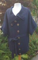 Ladies Navy Cardigan River Island Size 14 Chunky Knit