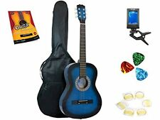 Star Acoustic Guitar 38 Inch, Bag, Tuner Strings, Picks Beginner Guide Blueburst