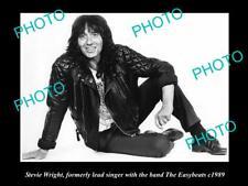 OLD LARGE PHOTO OF AUSSIE ROCK ICON STEVIE WRIGHT c1989 EASYBEATS