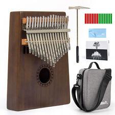 More details for thumb piano finger piano kalimba mbira 17key kit w/bag hammer book sticker aklot