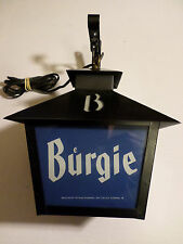 Burgie -Burgermeister Brewing -LIGHT UP LANTERN SIGN FROM  50's 60's RARE SIGN