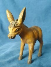 Vintage Wood Carved Donkey/Burro.