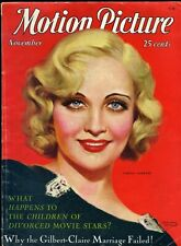 MOTION PICTURE Magazine •  Nov. 1931 • CAROLE LOMBARD cover by MARLAND STONE