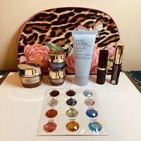Estee Lauder 7 piece Revitalizing Supreme- Firm Up & Glow Gift set & leopard bag