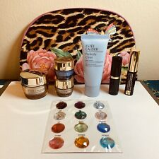 Estee Lauder 7 piece Revitalizing Supreme- Firm Up & Glow Gift set & leopard bag