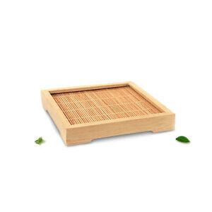 Lots Natural Bamboo Square Mat Hand Craft Saucer Tea Cup Pad Decor Serving Tray