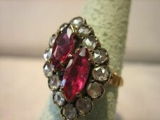 Magnificent Victorian Antique RoseCut Diamond Ruby Ring