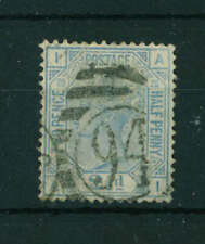 GB QV 1880 2 1/2d Blue Plate 20 stamp. Used. Sg 142