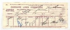 BC160 1892 GB Cheshire Lines Committee Parcel Way Bill {samwells} PTS