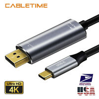 Cabletime Type C to DisplayPort Cable 4K 60Hz Thunderbolt 3 to DP 1.3 Adapter