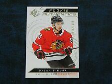 2018-19 18/19 SP Hockey ROOKIE Authentics 106 Dylan Sikura Blackhawks / 1199