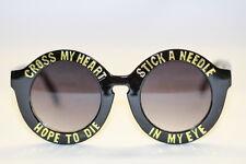 XXL Oversize Sonnenbrille Retro Rund round Hippie Boho schwarz gold Fun 988
