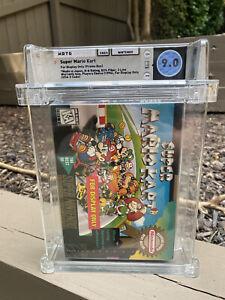 Super Mario Kart 💎 9.0 WATA 💎 Display Only promo box Mint Graded SNES
