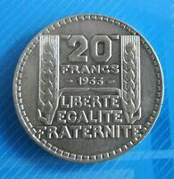 #1032# JOLIE PIECE DE 20 FRANCS TURIN ARGENT 1933: SUP