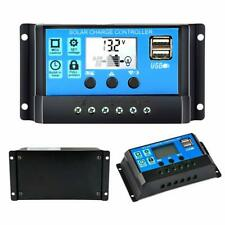 30A 12V/24V Solar Panel Battery Charge Controller Regulator Lcd with Dual Usb 5V