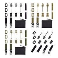 13 Pcs Tactical Gear Clip Strap for Molle Backpack Webbing Attachments D Ring