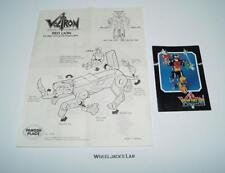 Voltron Red Lion Defender Of The Universe Panosh Place Instructions 1984