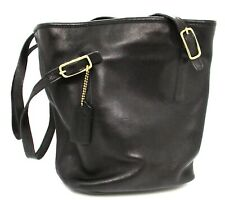 Nice Coach Legacy Classic Black Leather Bucket Tote Hobo Bag 9803 Gently Used