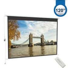 """Electric Pull Down Projector Screen 120"""" Retractable Motorised Projection SCREEN"""