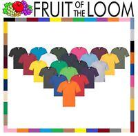 Fruit Of The Loom Men's Women's Original Plain Top V-Neck T-Shirt Cotton