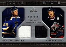 2005-06 Upper Deck Rookie Update #232 Jeff Woywitka, Adam Foote