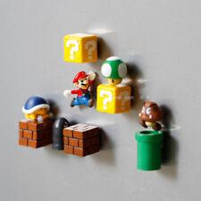 10pcs Super Mario Bros Magnets Figure toys Mario Bullet Mushroom Tortoise