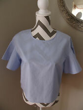 H&M Blue Bell Sleeve Cropped Top Unique NWT SZ 10