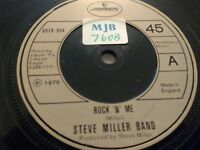 "STEVE MILLER BAND "" ROCK 'N' ME "" 7"" SINGLE MERCURY EXCELLENT 1976"