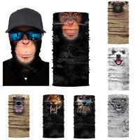 Eg _ 3D Animal Unisexe Écharpe Cou Masque Tube Bandeau Cyclisme Moto Chapeau F