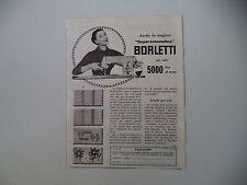 advertising Pubblicità 1957 MACCHINA PER CUCIRE BORLETTI SUPERAUTOMATICA