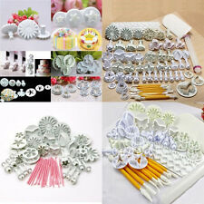 47Pcs Cake Candy Decorating Mould Fondant Icing Plunger Pastry Tools Mold Cutter