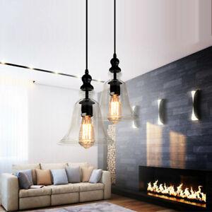 Glass Pendant Light Modern Ceiling Lamp Room Chandelier Lighting Kitchen Lights