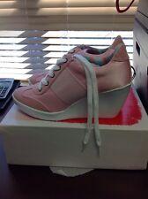 Nine West Preston Wedge Pink Women's Sneaker Size 8