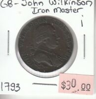 Great Britain Half Penny Token - 1793 John Wilkinson Iron Master - Lot i