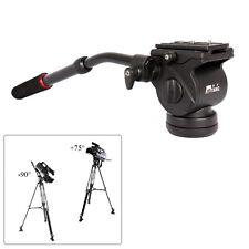 DSLR Camera Video Fluid Drag Tilt Pan Damping Head Handle Quick Release Plate