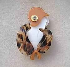 WHITE & BROWN tonalità in pelliccia sintetica lucite? Downton Abbey? Deco Lady Spilla