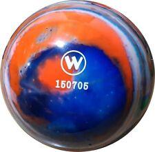 Kegelkugel Vollkugel 160mm blau/weiss/orange marmoriert Typ Winner