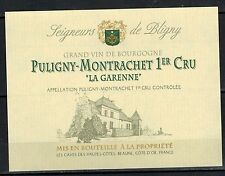 Etiquette de Vin - Puligny Montrachet 1°Cru - La Garenne - Réf.n°191