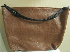 """Louis Vuitton Embossed Leather Large Shoulder Bag. 21"""" x 16"""" Italy"""