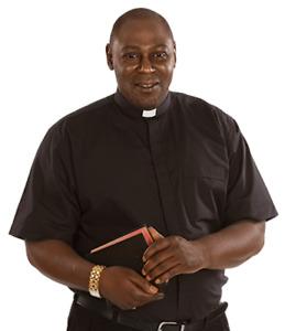 Men's *BLACK* Short Sleeves Tab Collar Clergy Clerical Minister Priest Shirt