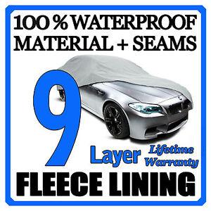 9 Layer Car Cover Breathable Waterproof Layers Outdoor Indoor Fleece Lining Fiw