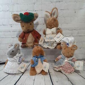 VTG Beatrix Potter Eden Gift Peter Rabbit Lady Mouse Benjamin Bunny Hunca Munca