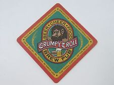 Beer Bar Coaster <> GRUMPY TROLL Brew Pub ~ Mount Horeb, WISCONSIN Craft Brewery