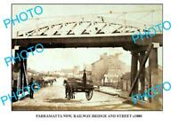 OLD LARGE PHOTO OF SYDNEY NSW PARRAMATTA RAILWAY BRIDGE c1880