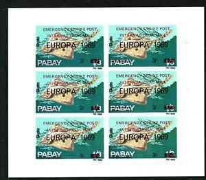 GB STRIKE POST 1971 PABAY Scots Islands Block{6} FISH 1969 Overprint UMM MA1083