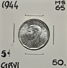 1944 Canada 5 Cents MS-65